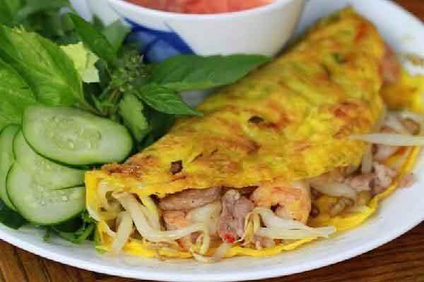 vietnamsese food banh xeo crispy pancake